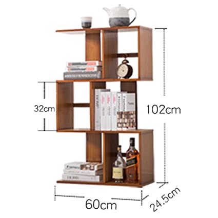 Book shelf Modern Minimalist Bookshelf S-shaped Shelf Living Room Floor Type Bookcase Home Shelf