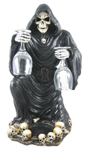 Gothic Grim Reaper Wine / Liquor Valet Holder by Things2Die4 - Wine Accessory Valet