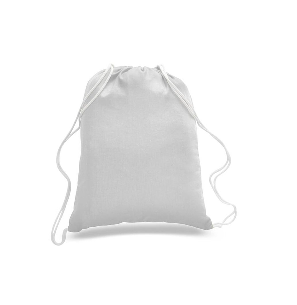 Economical 100 Pack Cotton Drawstring Bags, Sports Backpacks Standard Size, Bulk Low Price! (White) by Georgiabags