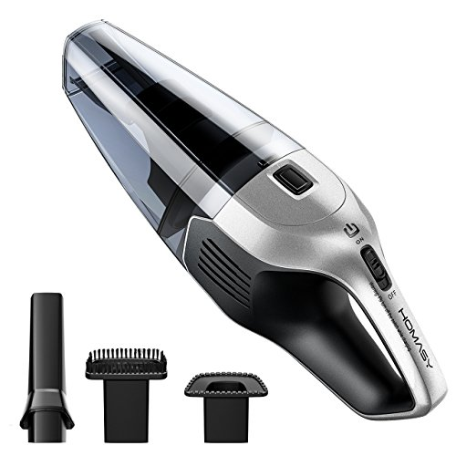 Homasy Cordless Handheld Vacuum Cleaner, 6Kpa Cyclonic Suction Portable Powerful Vacuum Cordless Car, Fast Charge & Charging Base, Wet Dry Dustbusters for Pet Hair Cleaning, DC 14.8V Lithium Battery
