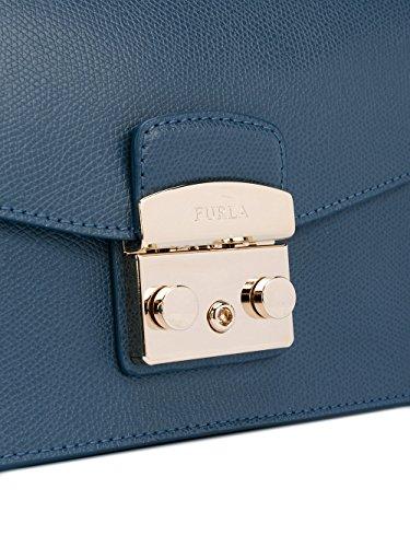 Furla Borsa A Spalla Donna 884954A4R Pelle Blu