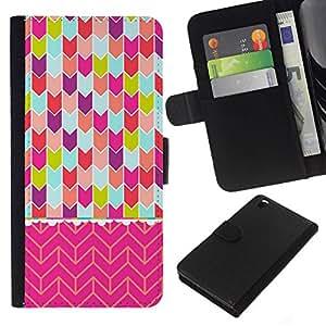 All Phone Most Case / Oferta Especial Cáscara Funda de cuero Monedero Cubierta de proteccion Caso / Wallet Case for HTC DESIRE 816 // Chevron Art Pink Teal Purple Green