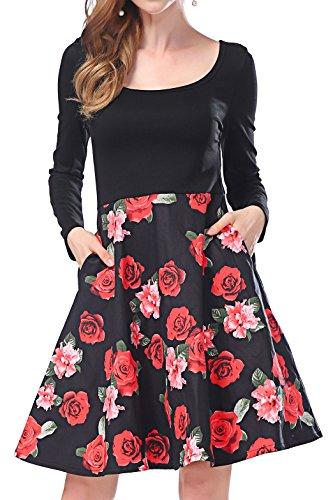 Asymmetrical Floral Prom Dress - 1