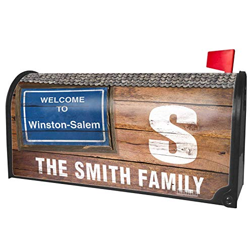 NEONBLOND Custom Mailbox Cover Sign Welcome to Winston-Salem ()