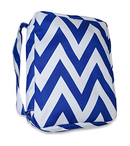 Ever Moda Chevron Bible Book Cover (Royal Blue)