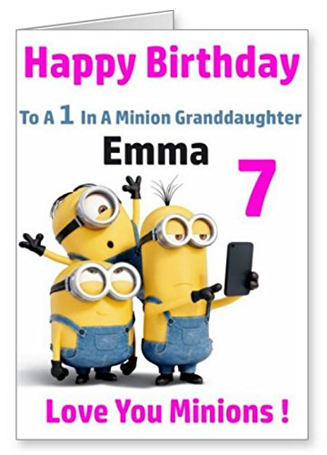 One In A Minion Personalised Birthday Card
