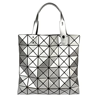 b9ecd1c3348f Same Design of BAO BAO Issey Miyake Bended Geometry Diamond Bag Shopping Bag  Handbag Silver  Amazon.co.uk  Kitchen   Home