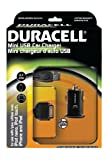 Duracell Car Charging Kit with Micro USB and 30-Pin Cable, Black