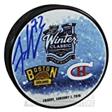 Frank Vatrano Boston Bruins Signed Autographed 2016 Winter Classic Hockey Puck