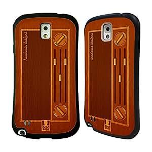 Head Case Designs Vintage Radio Wooden Gadgets Hybrid Gel Back Case for Samsung Galaxy Note 3 N9000 N9002 N9005