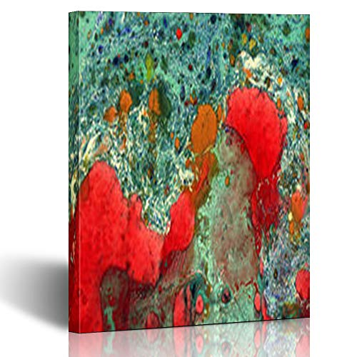 (Armko Canvas Wall Art Prints Retro Gorgeous Old Marbled Abstract Grunge Vintage Genuine Original Marbleized Effect Dirt Has 12 x 12 Inches Wooden Framed Painting Home Decor Bedroom Office)