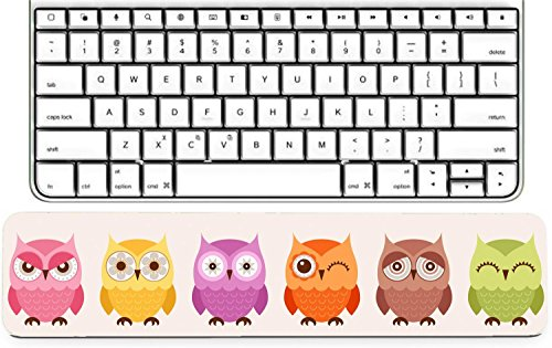 Luxlady Keyboard Wrist Rest Pad Long Extended Arm Supported Mousepad ID: 40448411 seamless cute owls pattern background