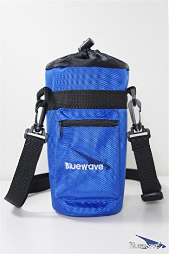Bluewave Lifestyle Insulated Water Bottle Holder/Carrier Case, Blue, 1.5 - Blue Carrier Water