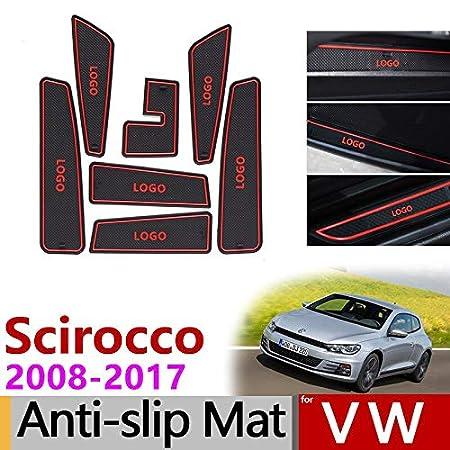 accesorios antideslizantes 2008-2016 Alfombrilla antideslizante de goma para Scirocco R GTS