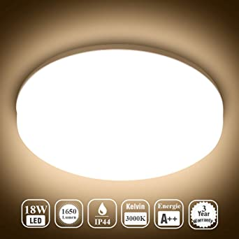 Öuesen Lamparas de Techo LED Modernas Delgado 18W Lampara Techo ...