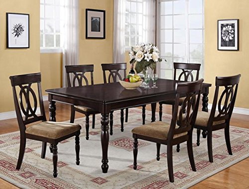 Brand New 7-pc Diana Dining Table (with 18'' Leaf) and 6 Dining Side Chairs Set