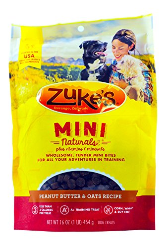 Zukes Mini Naturals Peanut Butter - Zuke's Mini Naturals Dog Treats, Fresh Peanut Butter Formula, Pack of 1
