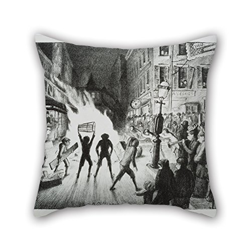 the-oil-painting-glenn-o-coleman-election-night-bonfire-pillow-covers-of-18-x-18-inch-45-by-45-cm-de