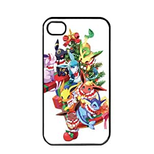 Pokemon Popular Cute Eevee Pikachu Apple iPhone 6 4.7 TPU Soft Black or White Cases (Black)