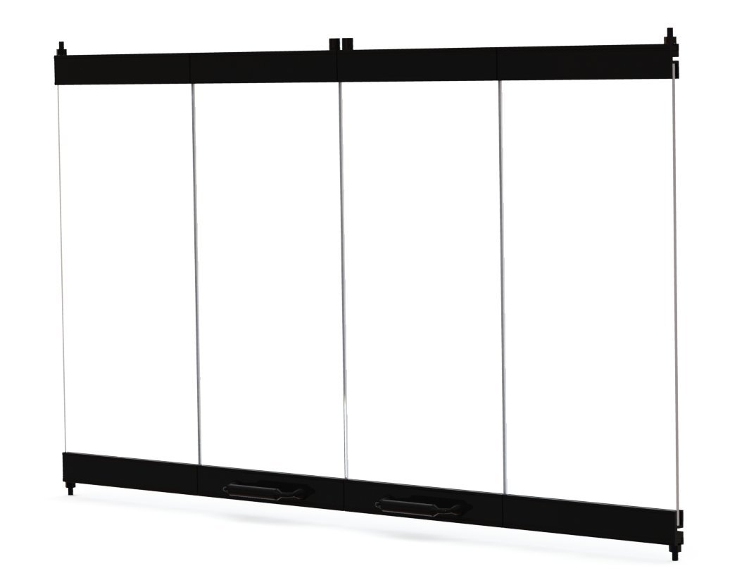 36'' Fireplace Glass Door Set To Fit Heatilator Unit by Pathline Products (Image #4)