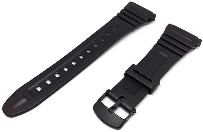 Casio 10076822 Correa para reloj, resina, color negro
