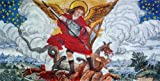 Amazing Icon of Saint Micheal Hand Made Colorful Mosaic Marble