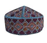 NDA Men s Kufi Afgani Cap Hand Embroidered Islamic Topi for Men Prayer Hat  Skull Cap ( 06be606fa2