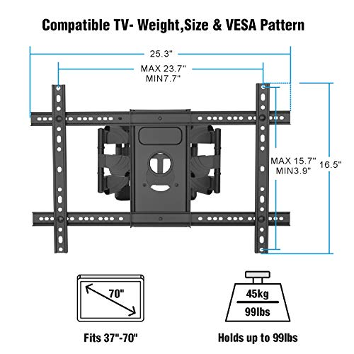 Corner Tv Wall Mount Bracket Tilts Swivels Extends Full Motion