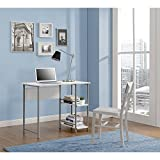 Easy Assembly Spacious Work Surface Basic Student Desk, White