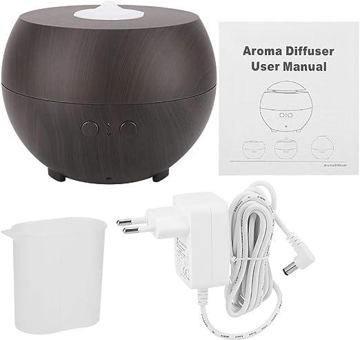 Humidificador ultrasilencioso USB para cafetería, pequeño dispositivo de aire acondicionado, humidificador de aire, difusor de aroma, purificador de aire Home Office AC100-240 V, ultrasilencioso, Dunkle Farbe, EU: Amazon.es: Hogar