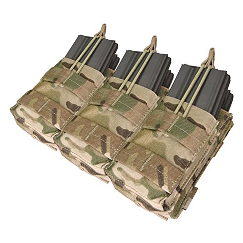 Condor Crye Precision Licensed MOLLE Triple Stacker (6 Mag) M4 Mag Pouch (Multicam (6 Mag Pouch)