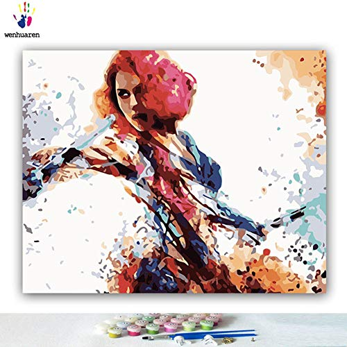 Paint by Number Kits Canvas DIY Oil Painting for Kids, Students, Adults Beginner with Brushes and Acrylic Pigment -Avengers Captain America Iron Man Black Widow Spider-Man (21033, 16x20 no Frame)