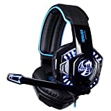 Leewos Professional Gaming Headset LED Light Clear Sound Headphone With Microphone