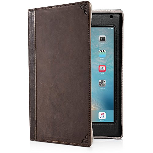 Twelve South BookBook for iPad Mini (1st - 4th Gen) | Vintage leather book case w/ typing angle and display stand