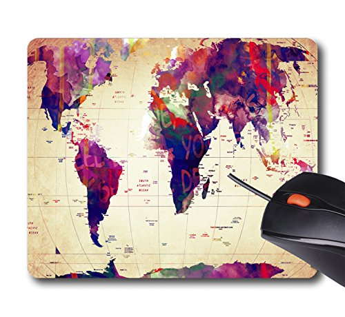 Vintage Mouse - AOFFLY Mark Ashkenazi - Map Of The World Vintage - Non-Slip Rubber Mousepad Gaming Mouse Pad