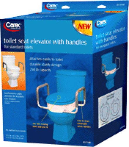 Carex Toilet Seat Elevator with Handles for Elongated Toilet