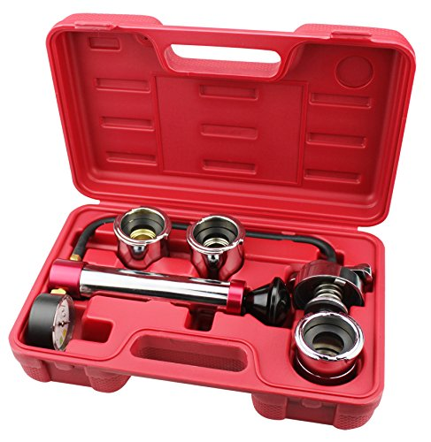 Kaupa Radiator And Cap Test Kit Cooling System Pressure Test Kit Radiator and Pressure Cap Test kit Coolant Pressure Tester