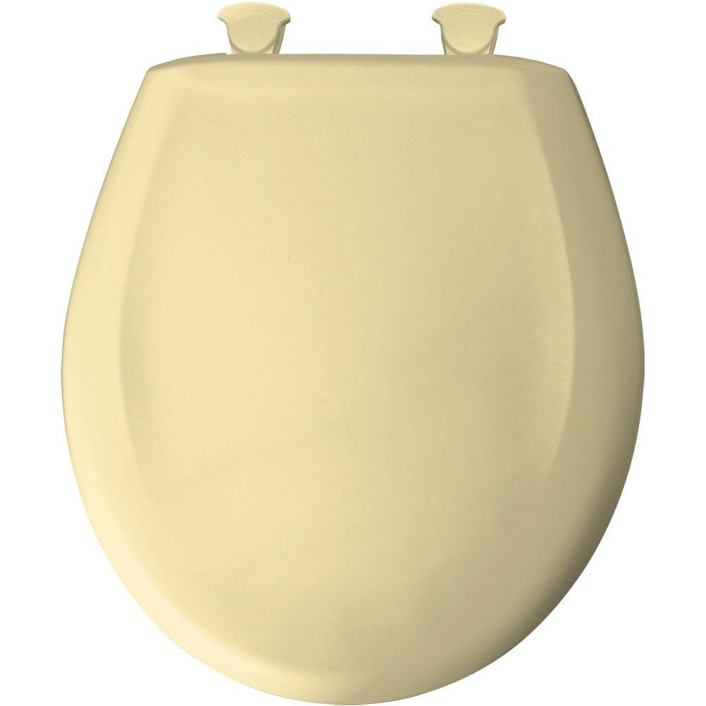 durable service Bemis 200SLOWT 541 Round Closed Front Toilet Seat, Sunlight