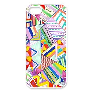 Custom Your Own Personalised Geometric Shapes Light Colors Pattern Iphone 5 Best Durable Hard Cover Case by runtopwell
