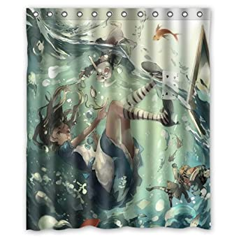 Amazon.com: Generic Alice In Wonderland Shower Curtain 60 Inch By 72 Inch:  Clothing