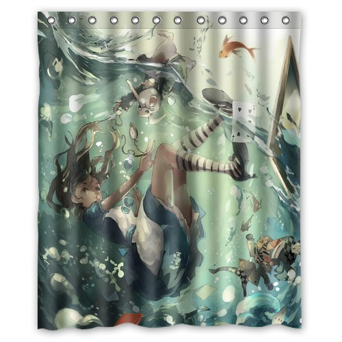 Generic Alice In Wonderland Shower Curtain 60 Inch By 72 Amazoncouk Kitchen Home
