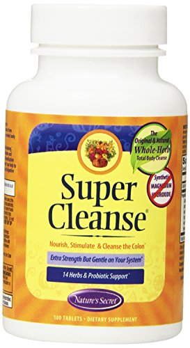 (Super Cleanse by Nature's Secret | Herbal and Probiotic Support, 100 Tablets)