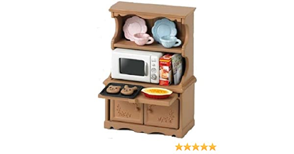 Sylvanian Families furniture cupboard oven microwave oven set over ...