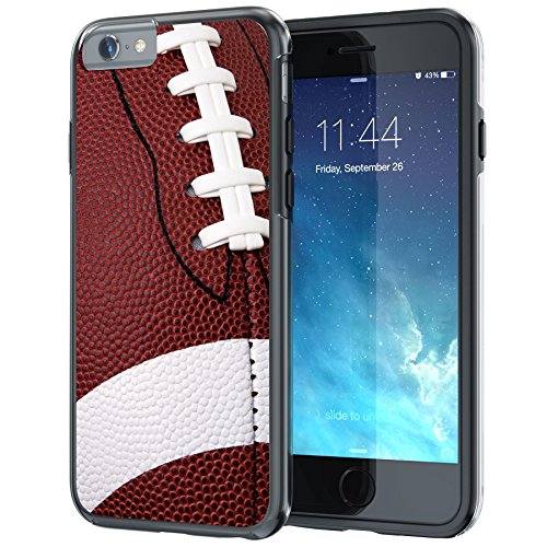True Color Case Compatible iPhone 6s Case, Rugby Football Sports Collection Slim Hybrid Hard Back + Soft TPU Bumper Protective Durable [True Protect Series] iPhone 6 / 6s 4.7