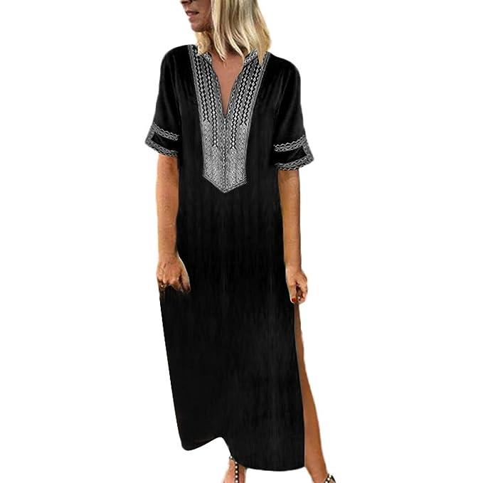 177fbe82b796 Women s Printed Long Sleeve V-Neck Maxi Dress Hem Baggy Kaftan Long Dress  Green Dress Vintage Dresses Sexy Dress Ladies Dress Womens Dresses Summer  Dresses ...