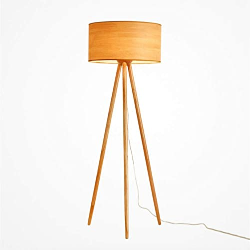 YL-Light LED Tripod Floor Lamp Mid Century Modern Wood