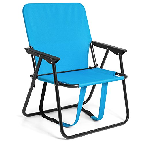 Best Choice Products 12in Height Seat Backpack Folding Chair Outdoor Beach Camping - -