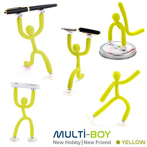 GadgetMarket Multi-Boy│New Flexible Magnetic Toothbrush Holder & [Cell Phone Holder] - [Photo Stand] - [Hobby Toy Friend] [7 Pcs] ()