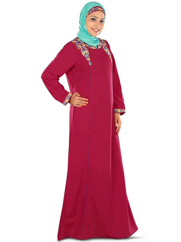 MyBatua Women's Muslim Dress Elegant Umayrah Abaya in Rose Pink