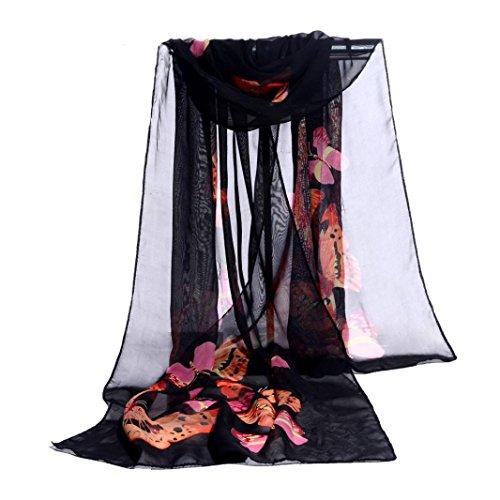 (Bolayu Fashion Women Chiffon Soft Wrap scarf Ladies Shawl Scarf Scarves Shawls)